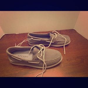 New men's Sperry Topsider Grey Size 10.5 leather